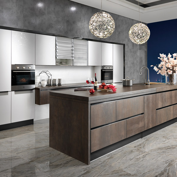 Kitchen Cabinet Quality Ratings: OP14-068: Modern Unique Spainish Sintered Rock Kitchen